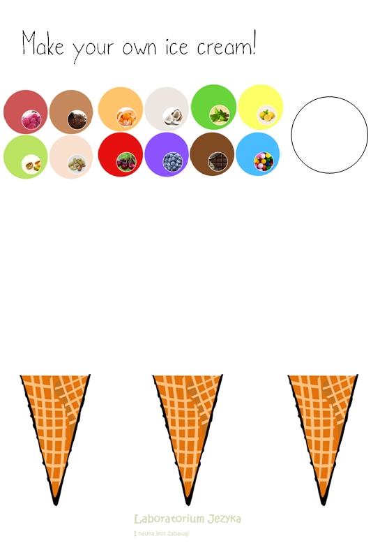 LODY - KARTA PRACY ice cream
